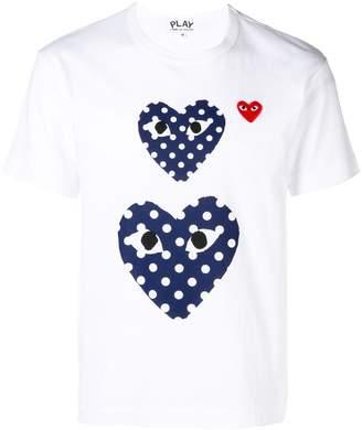 Comme des Garcons polka dot heart print T-shirt