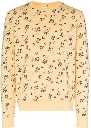 Saint Laurent Mickey Mouse print sweatshirt
