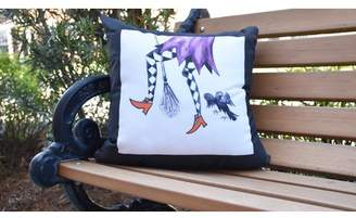 Fly London The Holiday Aisle Maser Away Witch Halloween Outdoor Throw Pillow