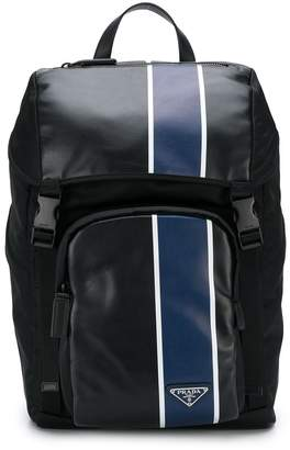 Prada contrast stripe backpack