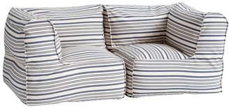 Pottery Barn Teen Prescott Loveseat Set (2 Corners), Antique Blue Stripe