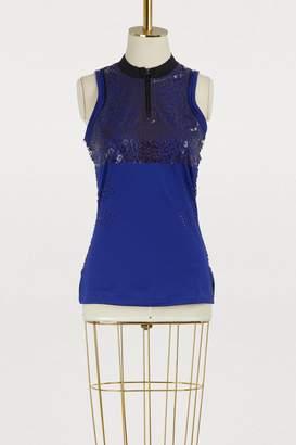 adidas by Stella McCartney Leopard print running tank top