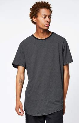 adidas Pacsun Mador Striped Scallop T-Shirt