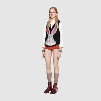 Gucci Bugs Bunny suede vest with patches