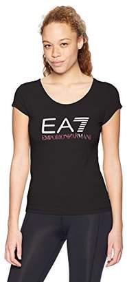 Emporio Armani Women's Training Core and Branding Logo Series Short Sleeve Tee