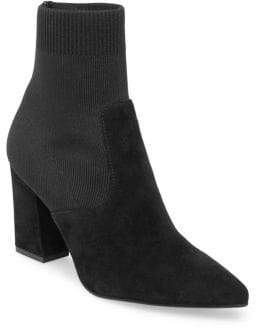 Steve Madden Remy Suede-Knit Pointy Booties