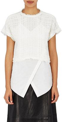 Derek Lam 10 Crosby Women's Layered Cotton Gauze T-Shirt $395 thestylecure.com
