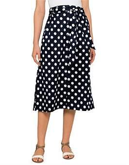David Jones Spot Print Skirt