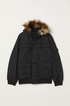 H&M Short Hooded Jacket - Black