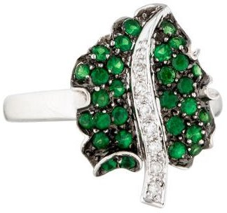 Le Vian 18K Diamond & Garnet Leaf Ring $495 thestylecure.com
