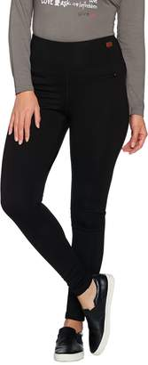 Peace Love World Ponte Knit Leggings with Zipper Detail