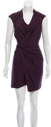 Helmut Lang Pleated Knee-Length Dress w/ Tags