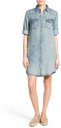 Women's Kut From The Kloth Ruthy Stripe Denim Shirtdress $98 thestylecure.com