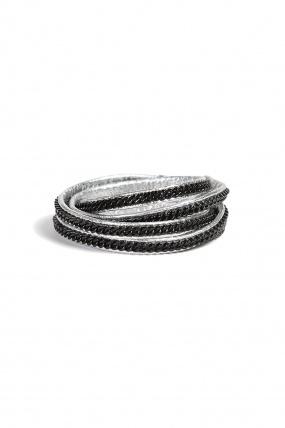 Vita Fede Capri 5 Wrap Bracelet Black/Silver