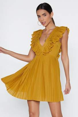 Nasty Gal Sweet and Low Ruffle Mini Dress