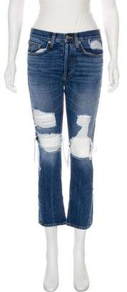 Brock Collection Mid-Rise Straight-Leg Jeans
