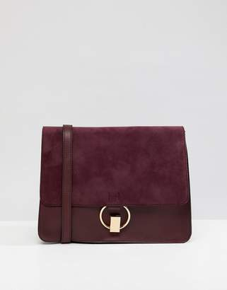 Warehouse satchel bag in berry