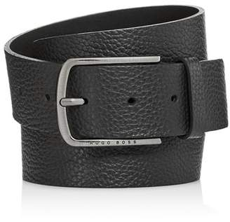 HUGO BOSS Men's Sander Pebbled Leather Belt