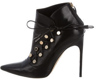 Brian Atwood Leather Pointed-Toe Ankle Boots $225 thestylecure.com