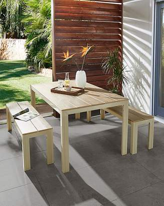 Fashion World Jakarta Polywood Table and Bench Set