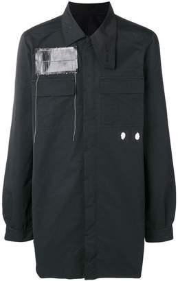 Rick Owens oversized patch-detail shirt