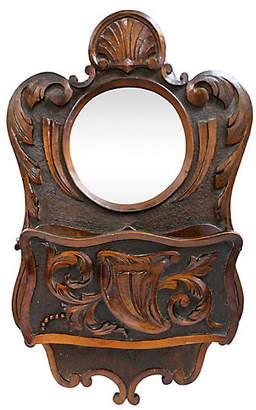 One Kings Lane Vintage Antique Mirror & Pocket