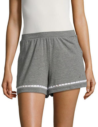 Nautica Solid Cotton-Blend Laced Shorts $34 thestylecure.com