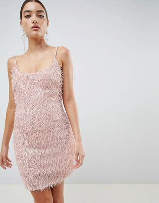 Missguided fringe bodycon dress