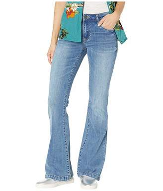 KUT from the Kloth Stella Relaxed Flare Jeans w/ Wide Hem in Network w/ Medium Light Base Wash
