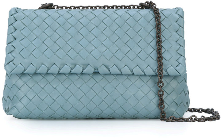 Bottega VenetaBottega Veneta woven shoulder bag with chain