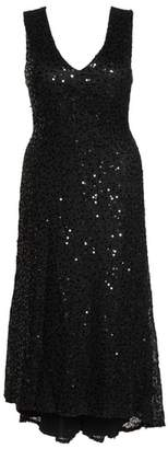 Morgan & Co. High/Low Sequin Gown