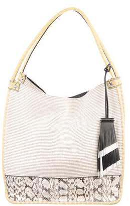 Proenza Schouler Snakeskin & Leather-Trimmed Medium Tote