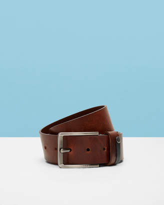 Ted Baker KEEPSAK Contrast detail leather belt