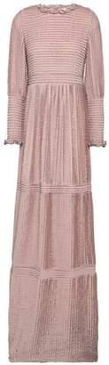 BA&SH Ruffled Crochet-knit Maxi Dress