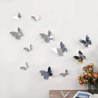 Walplus 3D Mirror Butterflies Wall Decal