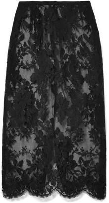 Rosamosario - La Bella Siciliana Cotton-blend Lace Skirt - Black