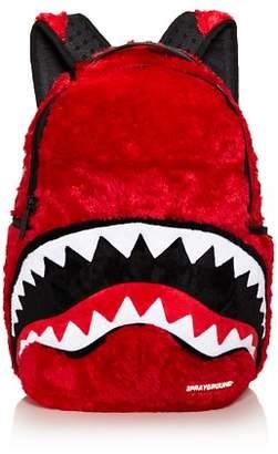 Sprayground Faux-Fur Monster Shark Backpack