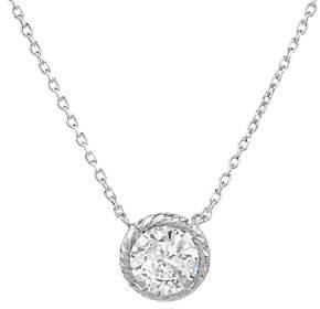 Diamonique 1.00 cttw Diamond Cut SolitaireNecklace, Sterl
