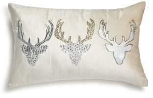"Bloomingdale's Embellished Velvet Reindeer Pillow, 12"" x 20"" - 100% Exclusive"