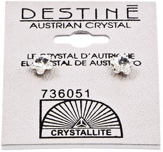 Crystallite Destine Flower 5mm Earrings