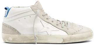 Golden Goose Mid Star Mid Top Leather Trainers - Womens - White