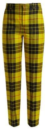 Balenciaga Macleod Mid Rise Tartan Trousers - Womens - Yellow Multi