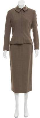 Charles Chang-Lima Structured Wool-Blend Skirt Suit
