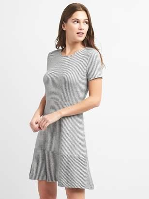 Gap Ribbed Softspun Fit and Flare Dress