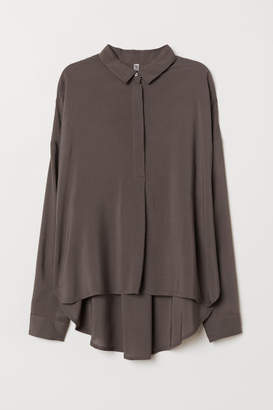 H&M Wide-cut Shirt - Gray