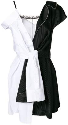 Alexander Wang tied shirt draped dress