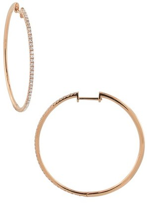 Women's Bony Levy Diamond Hoop Earrings (Nordstrom Exclusive) $2,395 thestylecure.com