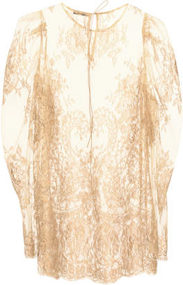 Lake Studio Sheer Floral Lace Blouse
