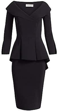 Chiara Boni Women's Zoya Long-Sleeve Peplum Sheath Dress