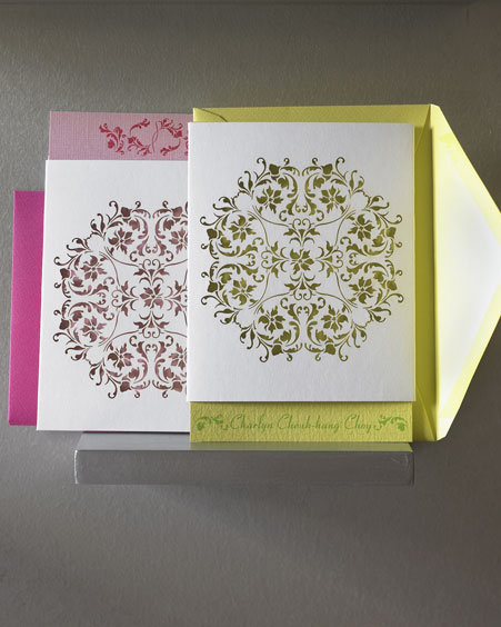 Laser-Cut Art Note Cards